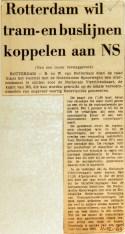 19691211 Rotterdam wil tram en buslijnen aan NS koppelen