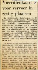 19691211 Vierrittenkaart voor vervoer in zestig plaatsen