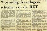 19691223 Woensdag feestdagenschema RET