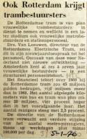 19700105 Ook Rotterdam krijgt trambestuursters