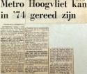 19700424 Metro Hoogvliet kan in 74 gereed zijn