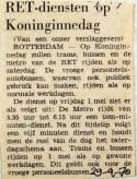 19700429 RET-diensten op Koninginnedag