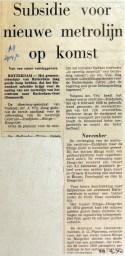 19700429 Subsidie voor nieuwe metrolijn op komst (AD)