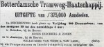 18781214 Uitgifte aandelen (De Tijd)