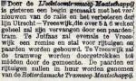 18931006 Verhuur rijtuigen en paarden. (De Tijd)