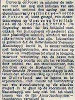 18951209 Minister over lijn Overflakkee. (De Tijd)