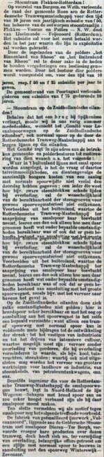 18980218 Tram Flakkee - Rdam. (RN)