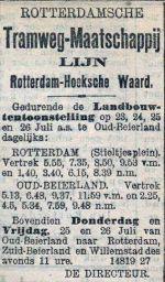 19010722 Aangepste dienstregeling. (RN)