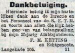 19120129 Dankbetuiging. (RN)
