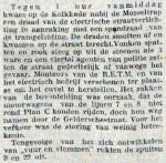 19121104 Kapotte bovenleiding. (RN)