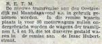 19131208 Remise Oostzeedijk in gebruik. (RN)