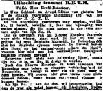19140626 Uitbreiding tramnet 1. (NRC)