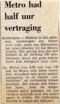 19700707 Metro had half uur vertraging