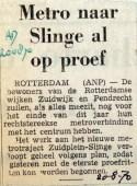 19700820 Metro naar Slinge al op proef (AD)