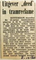 19701208 Uitgever deed in tramreclame