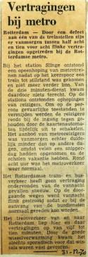 19701231 Vertragingen bij de metro