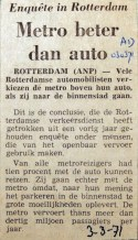 19710303 Metro beter dan auto (AD)