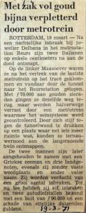 19710319 Met zxak vol goud bijna verpletterd door metrotrein
