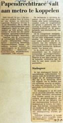 19710728 Pendrechttracee aan metro koppelen