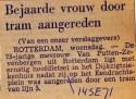 19710914 Bejaarde vrouw aangereden.