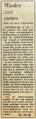 19711021 Minder met metro