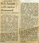 19711105 Rijk betaalt helft metro Ommoord (NRC)