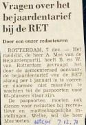 19711207 Vragen bejaardentarief. (NRC)