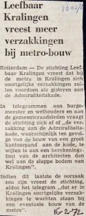 19720216 Meer verzakkingen door metro.