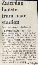 19720222 Laatste tram naar stadion.