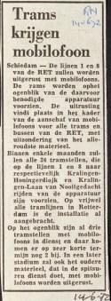 19720614 Trams krijgen mobilofoon.