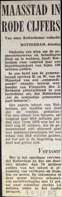 19720919 Maasstad in rode cijfers.