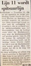 19721012 Lijn 11 spitslijn.