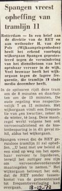 19721218 Spangen vreest opheffing lijn 11.