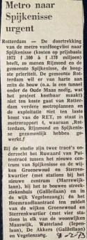 19730208 Metro naar Spijkenisse.