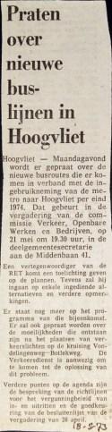 19730318 Praten over nieuwe buslijnen.