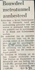 19730321 Bouwdeel metro aanbesteed.