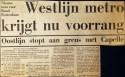 19730323 Westlijn krijgt voorrang.