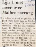 19730501 Lijn 1 niet over Mathenesserweg.