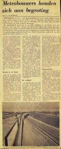 19730519 Metrobouw binnen begroting. (NRC)