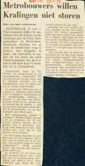 19730627 Metrobouwt stoort niet. (NRC)