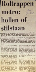19730828 Roltrappen hollen of stilstaan.
