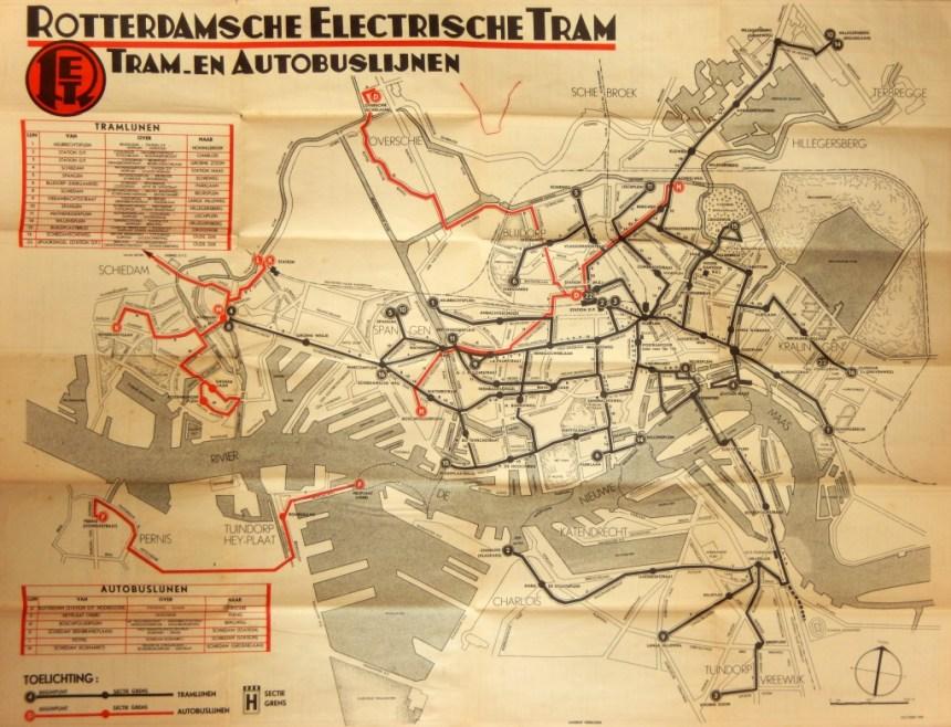 1940-10 lijnenkaart