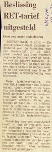 19740419 Beslissing tarief uitgesteld. (NRC)