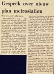 19750102 Nieuw plan metrostation. (NRC)