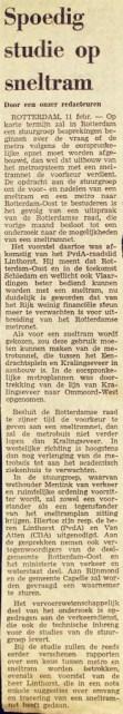 19750211 Studie sneltram. (NRC)