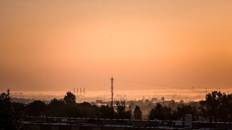 Tak wygląda mgła nadWisłą wWarszawie