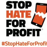 support for the stop hate for profit campaign