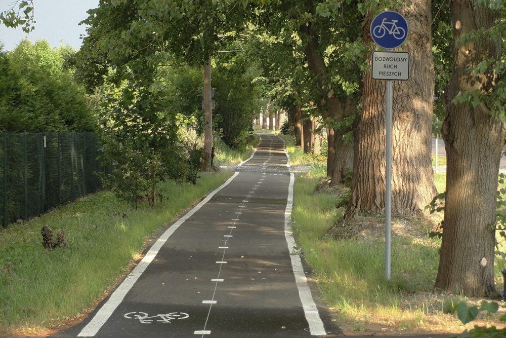wydzielona droga rowerowa