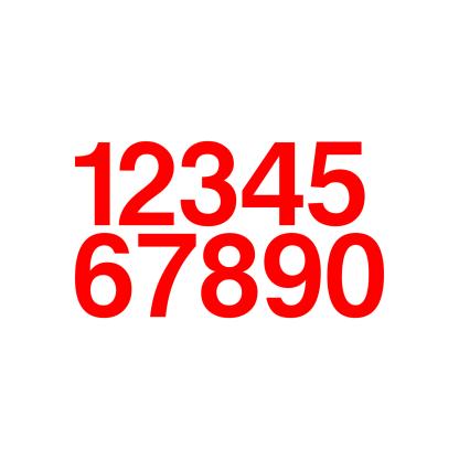 adhesive vinyl numbers