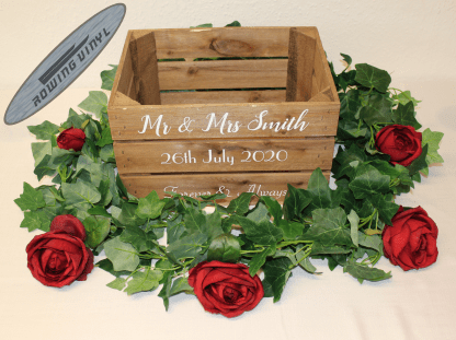 wedding crate stickers